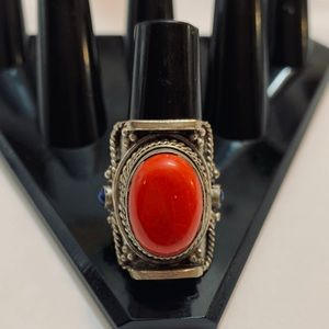 Beautiful handmade coral color ring
